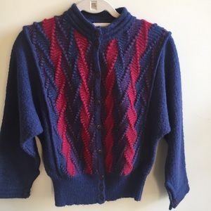 Vintage sweater/cardigan mohair size S/M
